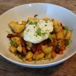 Chorizo, green chilli & onion hash