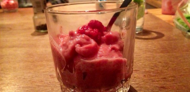 Raspberry and Banana imitation 'Ice Cream'