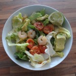 Prawn and avocado chilli salad
