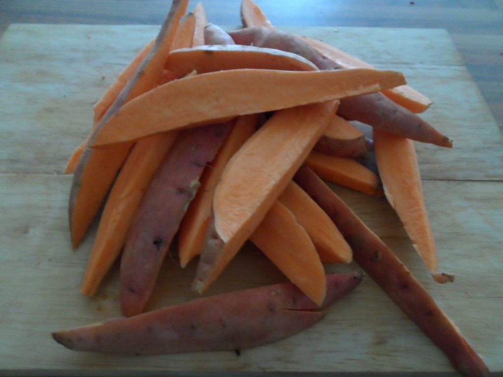 sliced sweet  potatoes