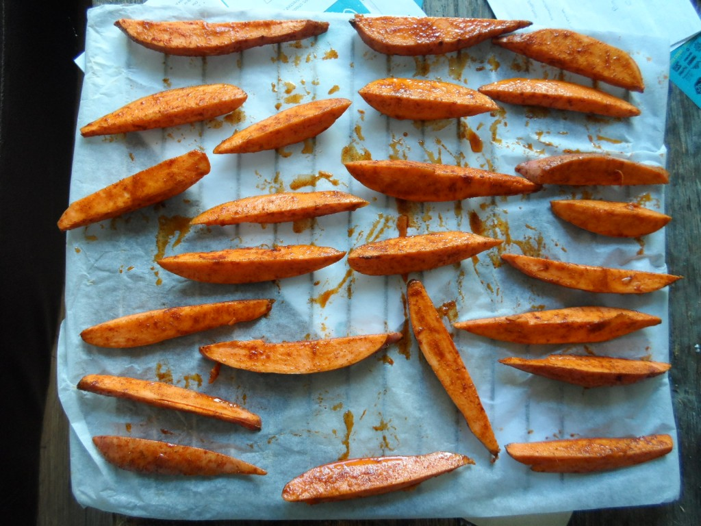 pre baked sweet potato wedges