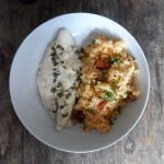 Baked Basa Fillets with garlic & thyme