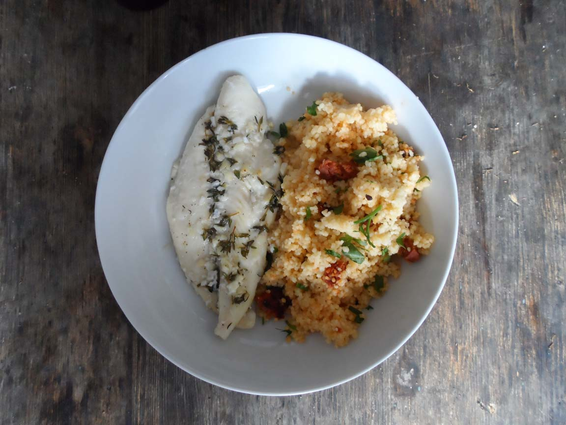 Baked Basa Fillets With Garlic Thyme